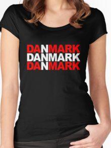 Danmark Women's Fitted Scoop T-Shirt
