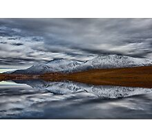 Scottish Mountain Reflections in Winter Photographic Print
