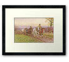 When the Day's Work is Done Framed Print
