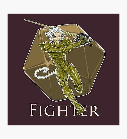 Dungeons and Dragons Fighter Photographic Print