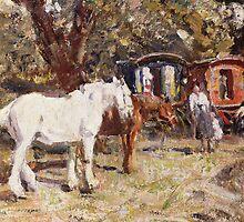 The Gypsy Encampment by Bridgeman Art Library