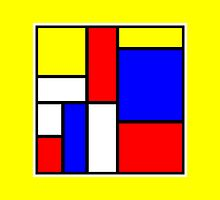Mondrian Block Colour Collection No.4 by Ged J
