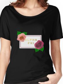 alpha phi modern design Women's Relaxed Fit T-Shirt