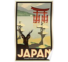 Japan, Japanese Government Railways Vintage Travel Poster Poster