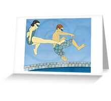 Jack Knife Pool Party Greeting Card