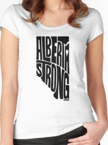 Alberta Strong (Black) Women's Fitted Scoop T-Shirt