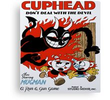 Cuphead Devil Canvas Print
