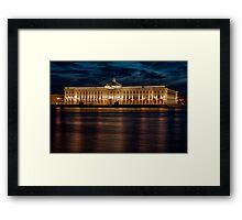 Night city (St. Petersburg, Russia) Framed Print