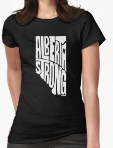 Alberta Strong (White) Womens Fitted T-Shirt