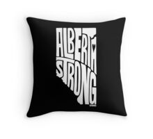 Alberta Strong (White) Throw Pillow