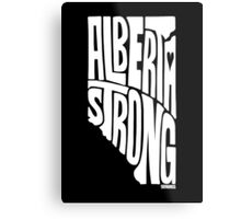 Alberta Strong (White) Metal Print