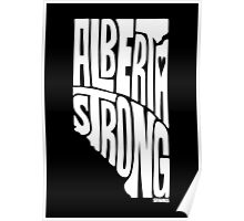 Alberta Strong (White) Poster