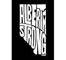 Alberta Strong (White) Photographic Print