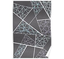 Caught in the web of lines Poster