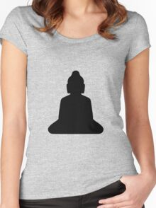buddha silhouette Women's Fitted Scoop T-Shirt