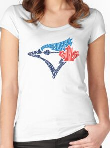 Toronto Blue Jays (Blue) Women's Fitted Scoop T-Shirt