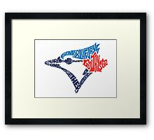 Toronto Blue Jays (Blue) Framed Print