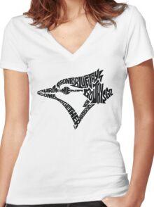 Toronto Blue Jays (black) Women's Fitted V-Neck T-Shirt