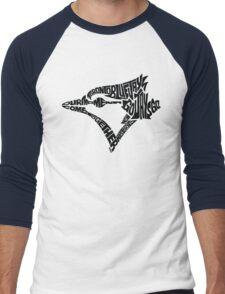 Toronto Blue Jays (black) Men's Baseball ¾ T-Shirt