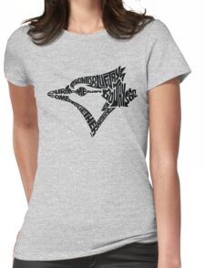 Toronto Blue Jays (black) Womens Fitted T-Shirt