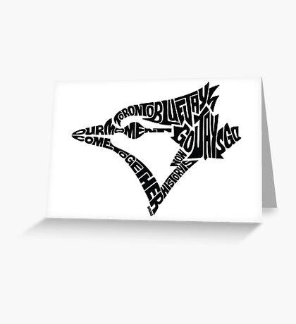 Toronto Blue Jays (black) Greeting Card