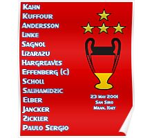 Bayern Munich 2001 Champions League Winners Poster