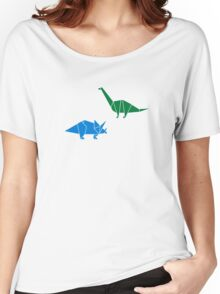 Dinosaur Origami Women's Relaxed Fit T-Shirt