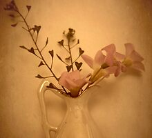 Pink Flowers In My China Vase... by Qnita