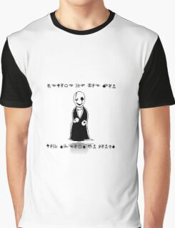 THE MAN WHO SPEAKS IN HANDS - UNDERTALE GASTER Graphic T-Shirt