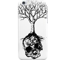 Skull and Tree Graphic T-Shirt iPhone Case/Skin