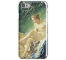 Francois Boucher - Diana Getting Out Of Her Bath. Woman portrait: sensual woman, girly art, female style, pretty women, femine, beautiful dress, cute, creativity, love, sexy lady, erotic pose iPhone Case/Skin