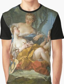 Francois Boucher - Les Confidences Pastorales. Woman portrait: sensual woman, girly art, female style, pretty women, femine, beautiful dress, cute, creativity, love, sexy lady, erotic pose Graphic T-Shirt