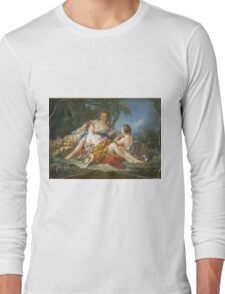 Francois Boucher - Les Confidences Pastorales. Woman portrait: sensual woman, girly art, female style, pretty women, femine, beautiful dress, cute, creativity, love, sexy lady, erotic pose Long Sleeve T-Shirt