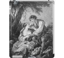 Francois Boucher - Pastoral Scene. Lovers portrait: sensual woman, woman and man, kiss, kissing lovers, love relations, lovely couple, family, valentine's day, sexy, romance, female and male iPad Case/Skin