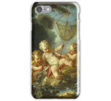 Francois Boucher - Putti As Fisherman. Child portrait: cute baby, kid, children, pretty angel, child, kids, lovely family, boys and girls, boy and girl, mom mum mammy mam, childhood iPhone Case/Skin