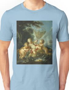 Francois Boucher - Putti As Fisherman. Child portrait: cute baby, kid, children, pretty angel, child, kids, lovely family, boys and girls, boy and girl, mom mum mammy mam, childhood Unisex T-Shirt