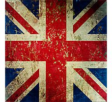 Grunge Union Jack - Scratched Metal Effect Photographic Print