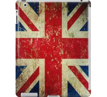 Grunge Union Jack - Scratched Metal Effect iPad Case/Skin