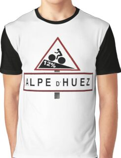 Alpe d'Huez Road Sign Cycling Graphic T-Shirt