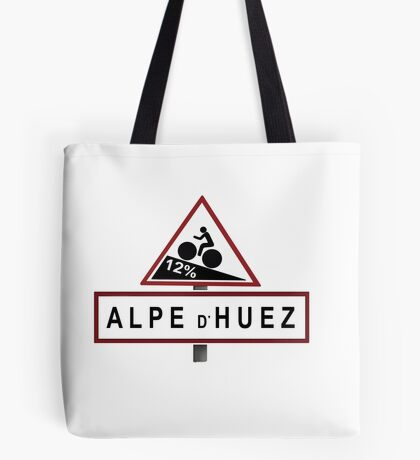 Alpe d'Huez Road Sign Cycling Tote Bag