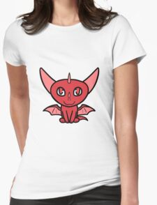 Dragon Chibi (Red) Womens Fitted T-Shirt