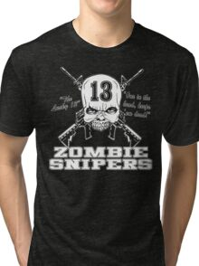 Zombie Snipers Dark Tri-blend T-Shirt