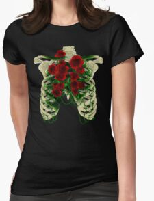 Rose Cage Womens Fitted T-Shirt