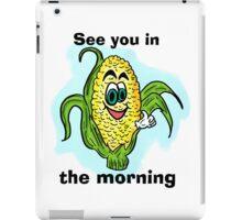 Funny bathroom humor corn drawing iPad Case/Skin