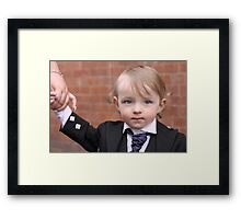 Formal Little Man Framed Print