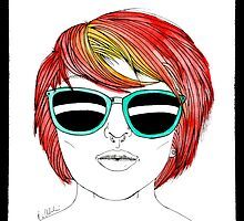 Girl with Sunglasses by E-Chamberlin