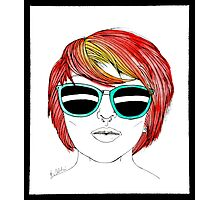 Girl with Sunglasses Photographic Print