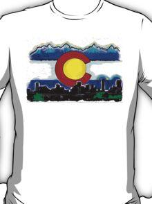 Artistic Denver Colorado skyline design T-Shirt