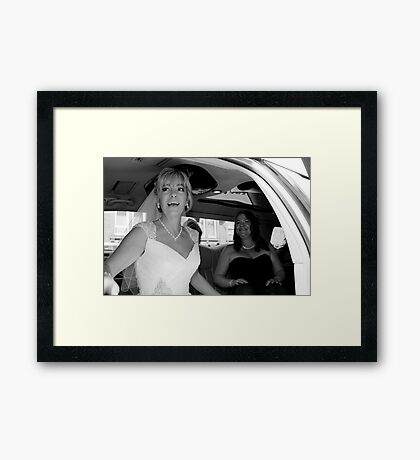 30 minutes late.. Framed Print