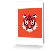 Trixel Tiger Greeting Card